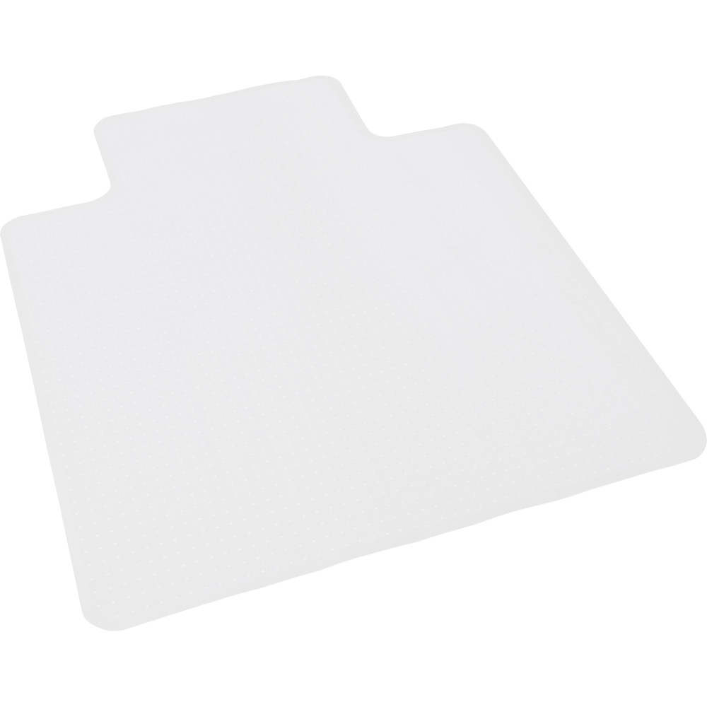 Chair Mat For Carpet Floor Dimpled Base Keyhole Shape 135cmLx115cmW Frosted