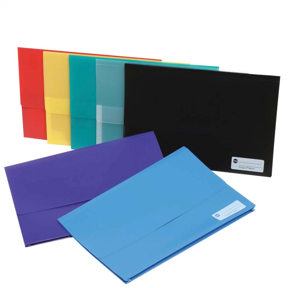 MARBIG POLYPICK WALLETS PP Foolscap Purple