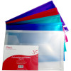 STAT DOCUMENT WALLET FOOLSCAP PP With Gusset Assorted Pack of 10