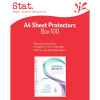 STAT SHEET PROTECTORS A4 Clear Pack of 100