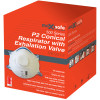 Maxisafe Conical P2 Respirator With Valve Pack of 10