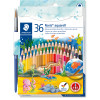 STAEDTLER AQUARELL PENCILS Noris Club Asst Colours Pk36