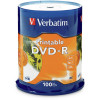 VERBATIM RECORDABLE DVD DVD-R 4.7GB Wht Printble 100Pk