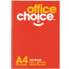 ^OFFICE CHOICE SPIRAL NOTEBOOK A4 - 210x297mm 120Pg SB