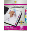 MARBIG VIEW TAB DIVIDERS A4 PP 10 Tab Colour