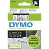 DYMO D1 LABEL CASSETTE 12mmx7m -Black on White (SD45013)