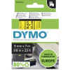 DYMO D1 LABEL CASSETTE 9mmx7m -Black on Yellow