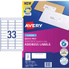 Avery Quick Peel Address Laser Labels L7157 64x24.3mm White 3300 Labels, 100 Sheets