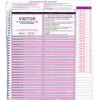 Zions CVSFR Visitors Pass System 250 Visitors Pass Slips To Suit BCVSFR Pack of 250