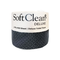 DELUXE - TOILET ROLL 400SHT 2PLY (INDIVIDUALLY WRAPPED) - Ctn48