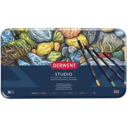 DERWENT STUDIO PENCILS Tin 36 Assorted