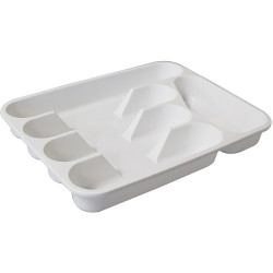 CONNOISSEUR CUTLERY TRAY L330xD260xH45mm 5 Compartment White