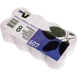 Victory Thermal Register Rolls 57x57x12mm 39m Roll Pack of 8