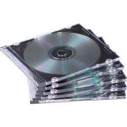 FELLOWES CD JEWEL CASES Slimline Black (PK25)