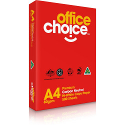 Office Choice Copy Paper Premium A4 80gsm White Ream of 500