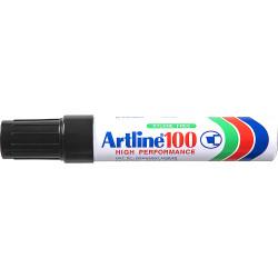 Artline 100 Jumbo Permanent Marker Chisel 12mm Black