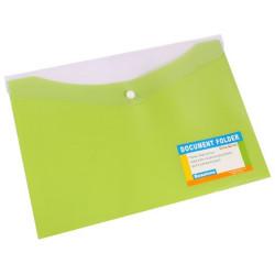 BEAUTONE DOCUMENT FOLDER A4 Button Closure Trop Lime