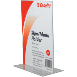 ESSELTE SIGN/MENU HOLDER A5 Double Sided Portrait