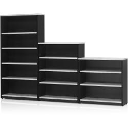 LOGAN BOOKCASE 900X900 2 Shelf White & Ironstone