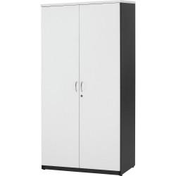 LOGAN CUPBOARD Full Door 1800x900mm White & Ironstone