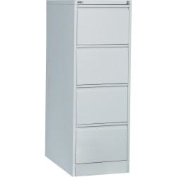 GO 4 DRAWER FILING CABINET H1321xw460xd620mm Silver Grey Furnx