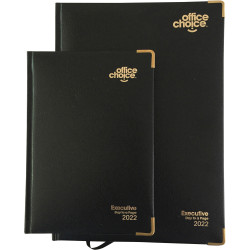 Office Choice Executive Diary Day To A Page A5 Black