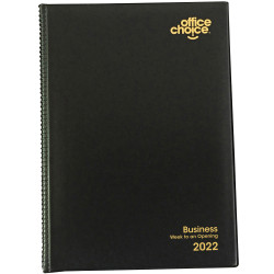 ^OFFICE CHOICE BUSINESS DIARY A5 Week to an Opening 1 Hr 1Hr appoint 8am - 6pm