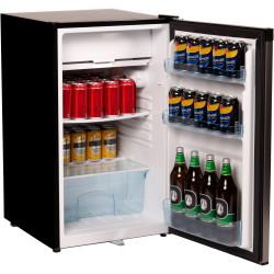 Nero Bar Fridge & Freezer 125 Litre Stainless Steel