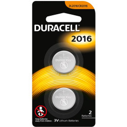 DURACELL SPECIALITY BUTTON  Battery DL2016 Lithium 2 pack