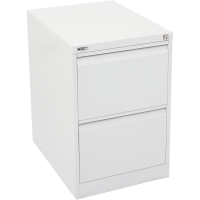 Go Steel 2 Drawer Filing  Cabinet 705Hx460Wx620mmD White