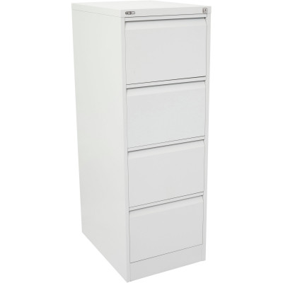 Go Steel 4 Drawer Filing Cabinet 1321Hx460Wx620mmD White