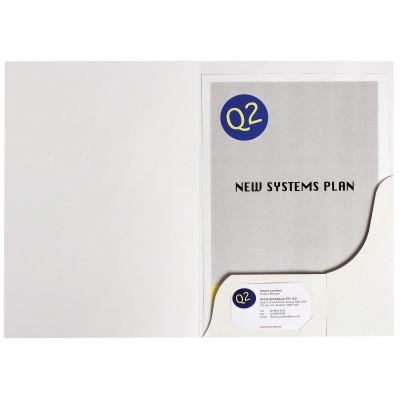 MARBIG PRESENTATION FOLDERS Pro Series A4 White Gloss