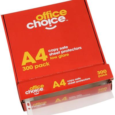 OFFICE CHOICE SHEET PROTECTORS A4 Copysafe Box of 300