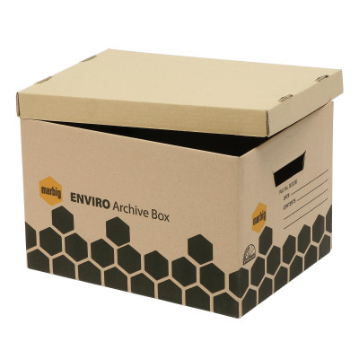 MARBIG ENVIRO ARCHIVE BOX 100% Recycled Brown Pk5