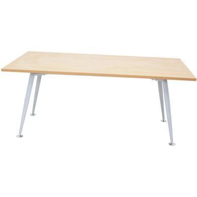 Rapid Span Meeting Table 1800Wx900mmD Beech Top Silver Steel Frame